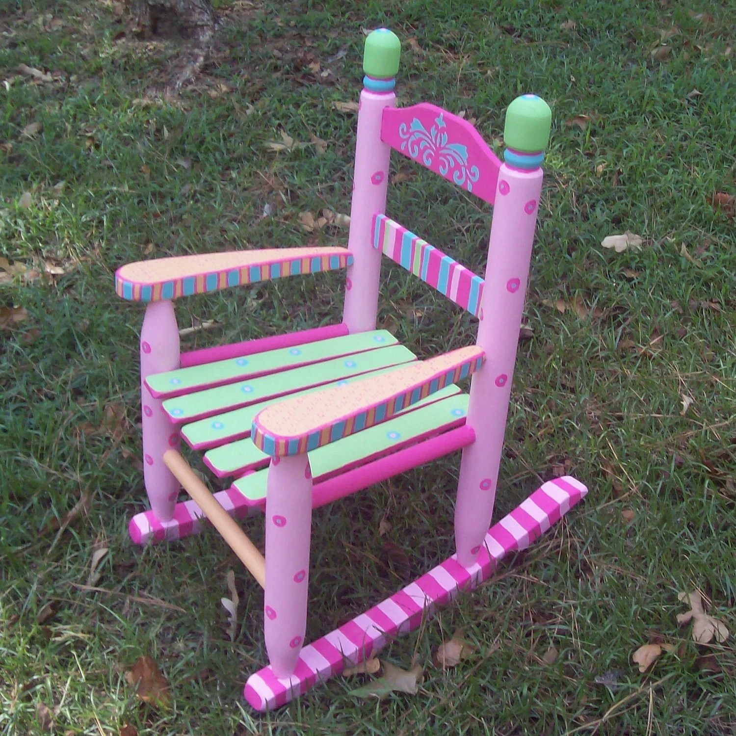 Girls Rocking Chair Rocking Chair Hand Painted Sherbet Color Rocking Chair