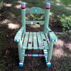 Little Girl Rocking Chair Desk Piston Hand Painted Princess