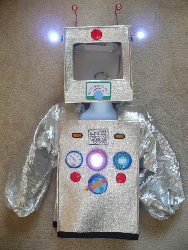 Cute Robot Costume Lights Upsize Xs 2-4 Dress