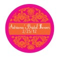 Stickers damask wedding holiday birthday party favor