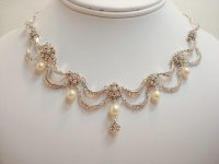 Bridal jewelry set necklace and earrings set by treasures570
