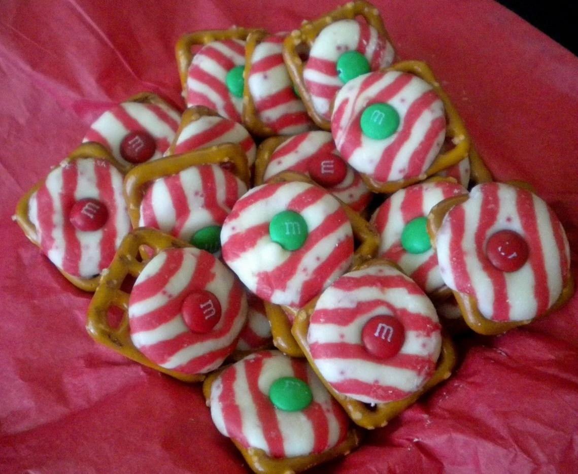 Candy Cane Kisses And Pretzels