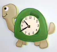 Turtle Wooden WALL CLOCK for Kids Bedroom Baby Nursery WC0062