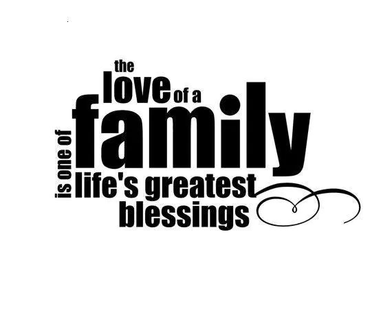 Family wall decal Vinyl lettering wall word by CasaBellaVinyl