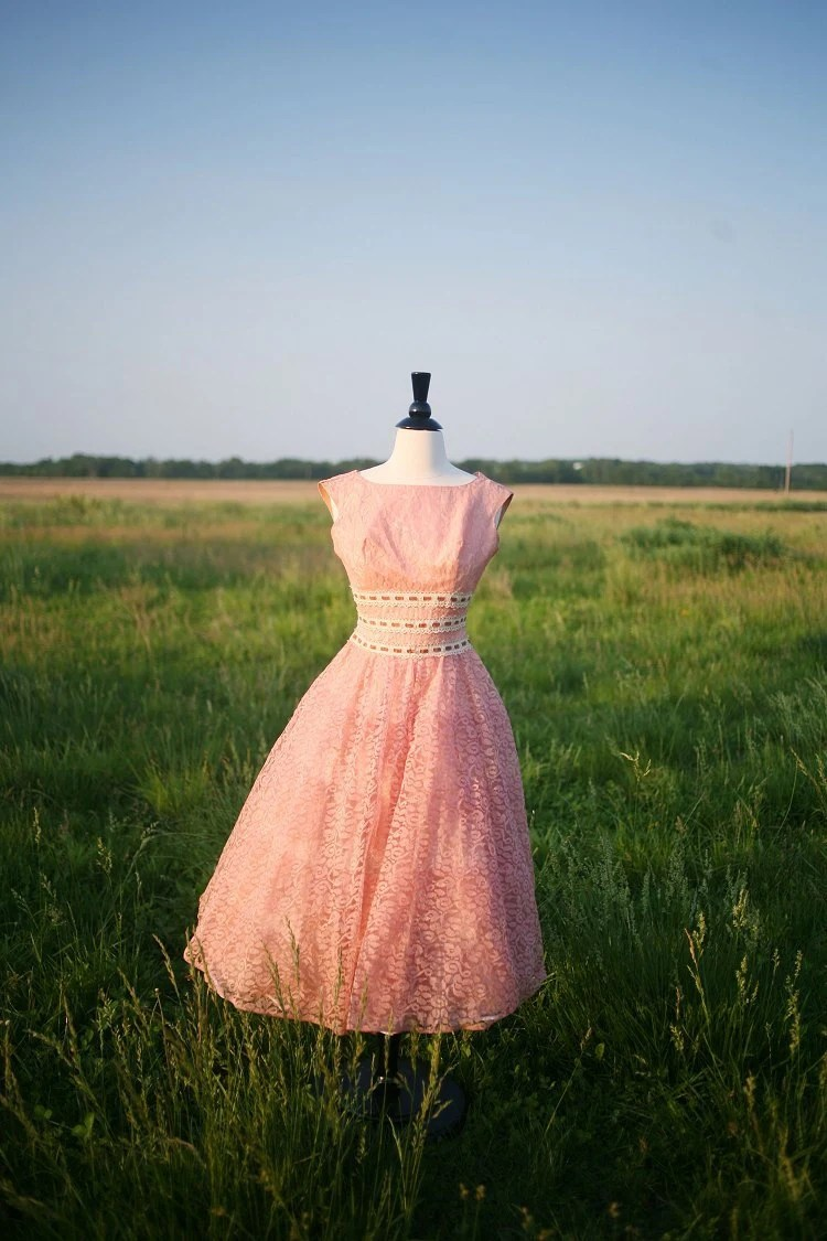 Vintage 50s WeddingPromBridesmaid Dress MAD MEN