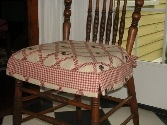 country chair pads custom director s los angeles items similar to slipcovers for cushions - french rooster with contrasting red ...