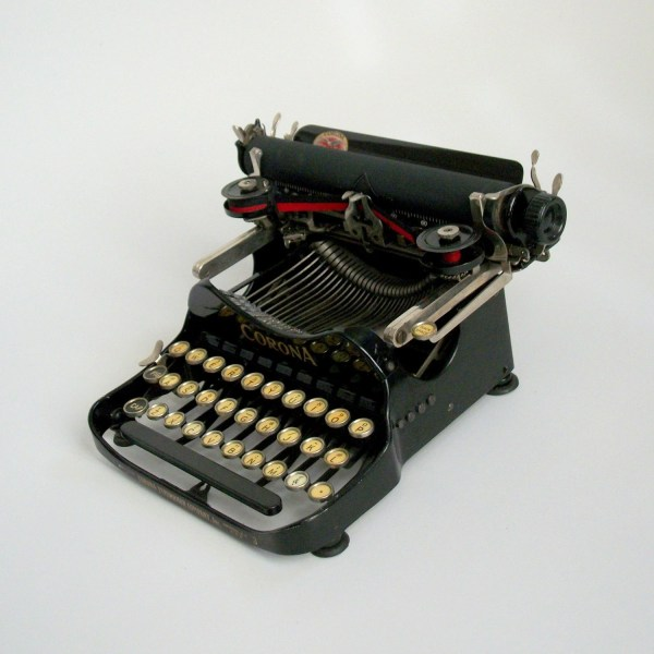 Antique Corona Typewriter. Rare With Decals Intact. Pinguim