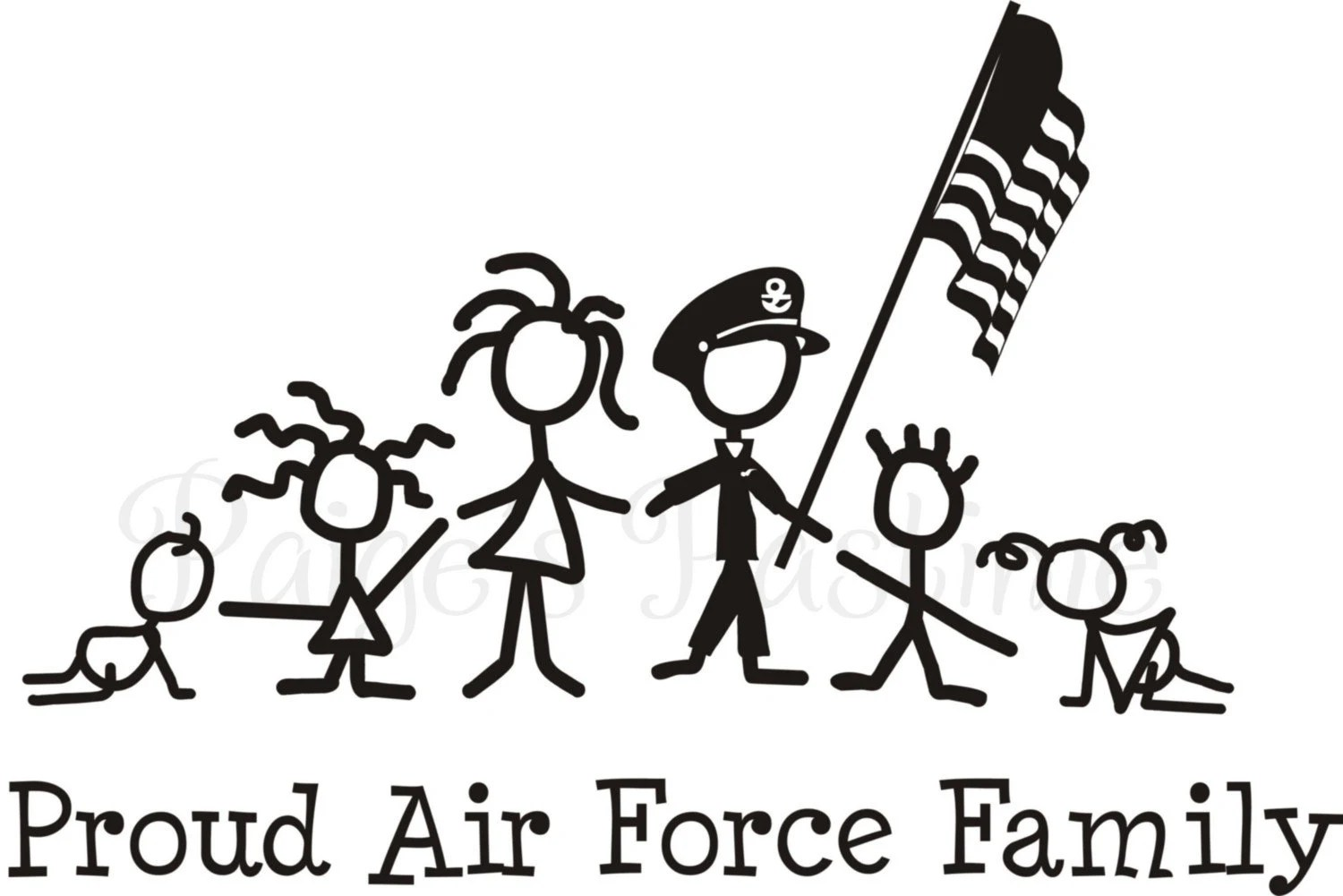Air Force Decal Air Force Family Air Force Stick Family