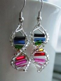 Rainbow Genes DNA Earrings
