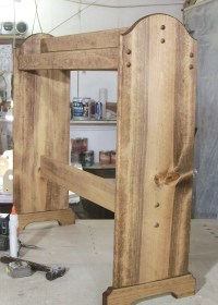 Early American stain. free standing Quilt rack wood ready to