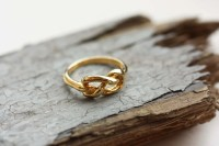 Knot Ring Gold Knot Ring Twist Ring Pretzel Ring Gold