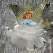 vintage christmas spun glass angel