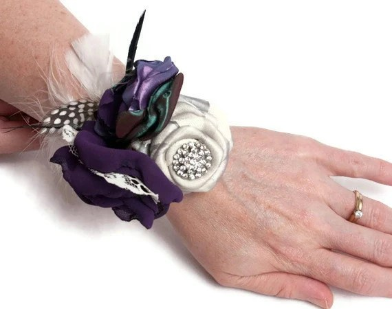 Custom Wrist Corsages In Your Wedding Colors - hARTjewelry