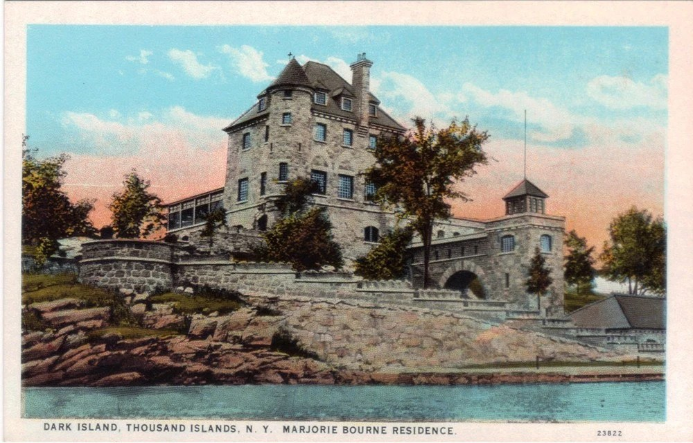 Vintage New York Postcard Singer Castle on Dark Island