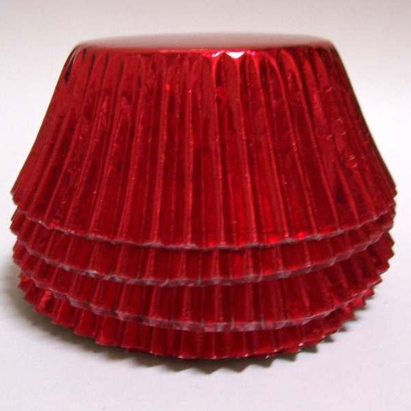 Red Foil Baking Cups Choose Set of 50 or 100