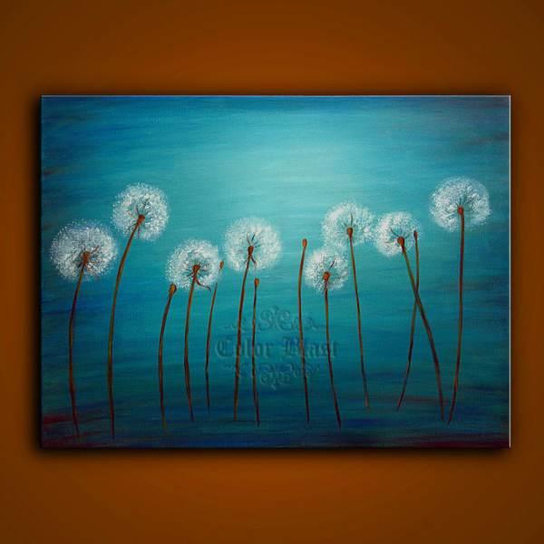 Dandelion Abstract Art Paintings