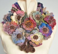 Crochet Flower Scarf Flickr Photo Sharing