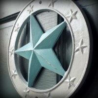 nautical star wall decor large blue and white