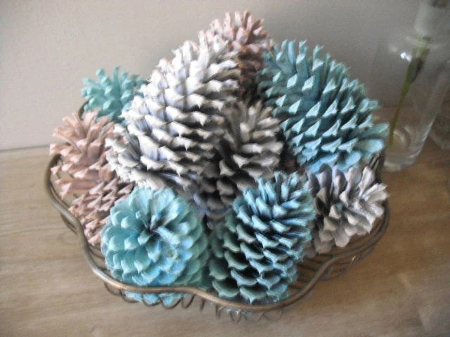 rustic kitchen clock canisters ceramic sets special order for rachel ...... painted pine cones ....