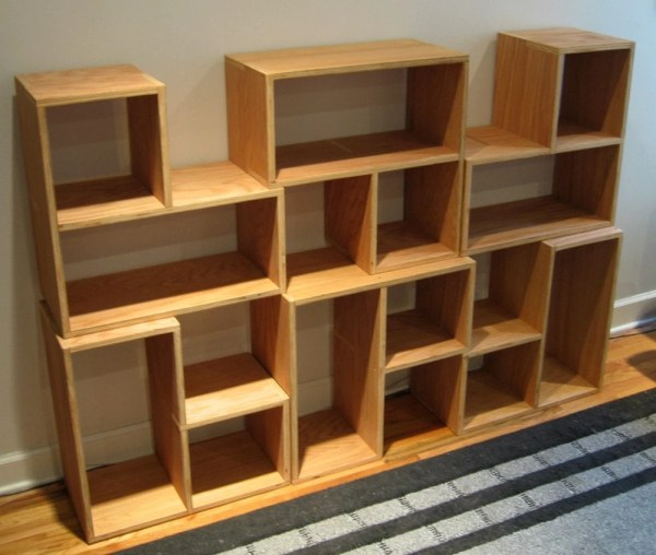Stackable Wood Cube Storage Shelves
