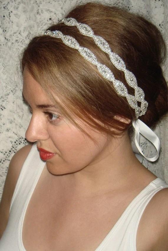 Wedding Headpiece Headband Athena Rhinestone Headband