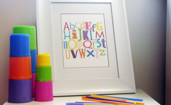 Nursery Wall Art Modern Alphabet Montessori And By Mamamayi