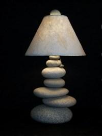 Items similar to Maine Stacked Stone Balance Rock Lamp on Etsy