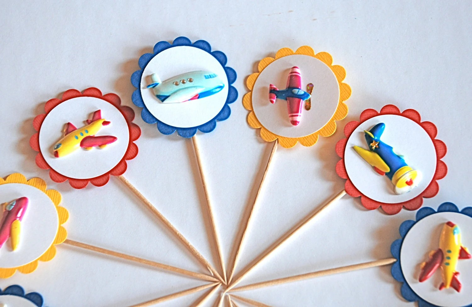 Airplanes And Things Cupcake Toppers