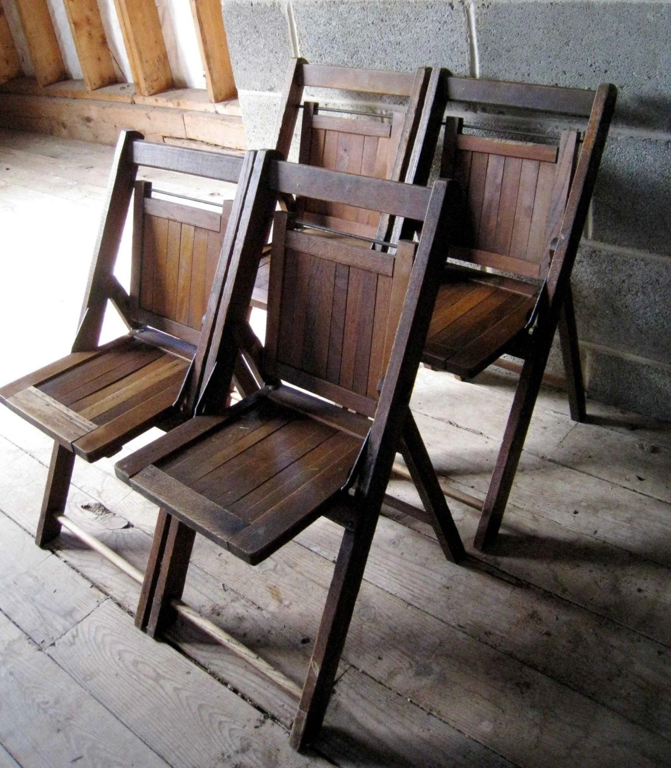wooden folding chairs for sale overstock desk chair set of 4 vintage childrens slat back oak