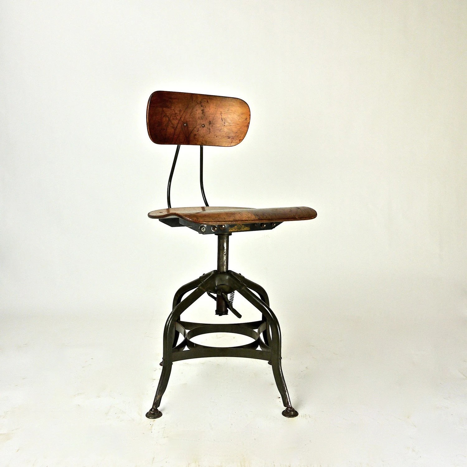 Drafting Chairs Antique Factory Industrial Toledo Drafting Stool