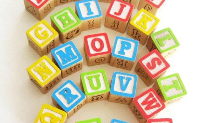 Vintage Alphabet Wooden Blocks Building Blocks Abcs 26 A To Z
