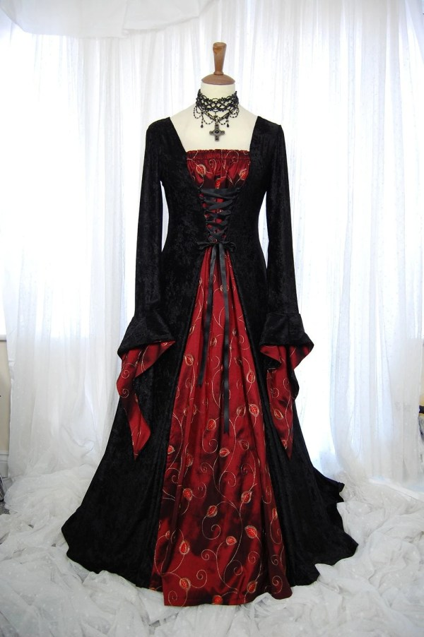 Medieval Pagan Wedding Prom Dress Gown Lotr Hand Fasting Size