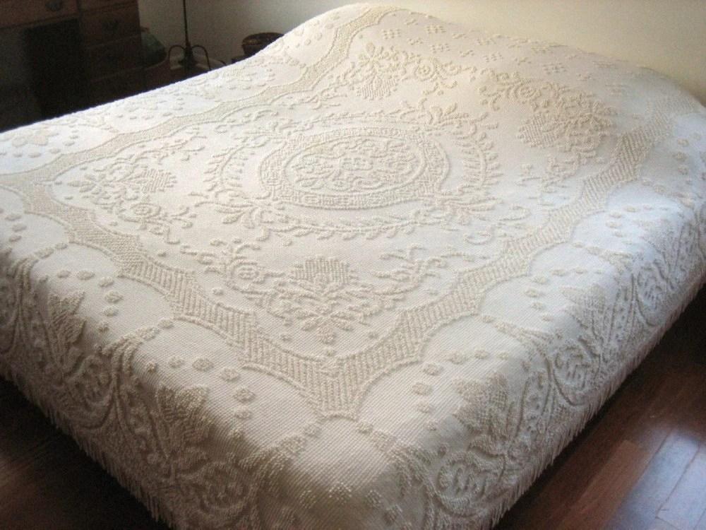 Quilt Blanket Hobnail Textured Bedspread Coverlet White Cotton
