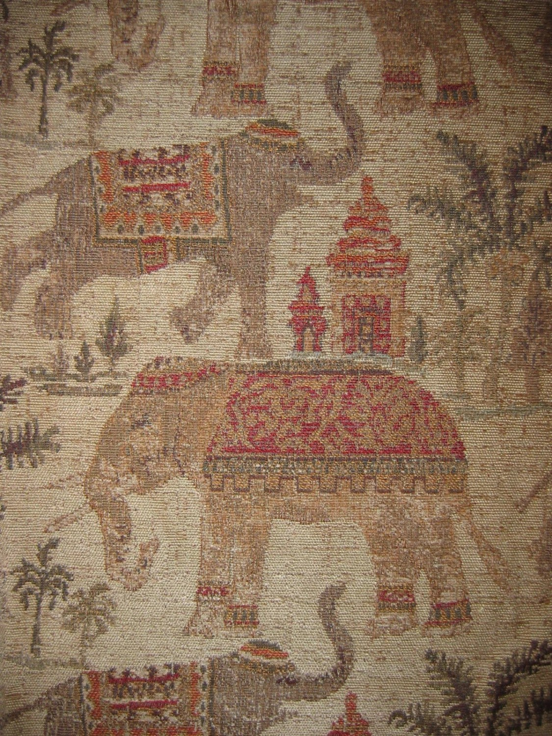 animal skin chair covers simple diy woven upholstery fabric dancing elephants chenille 1yd by aleazim
