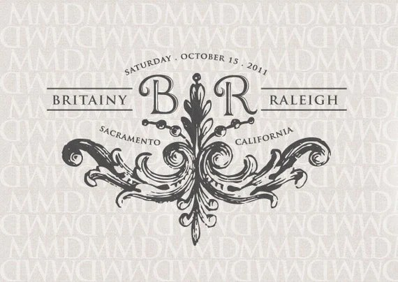 Stately Flourish Wedding Logo & Monogram