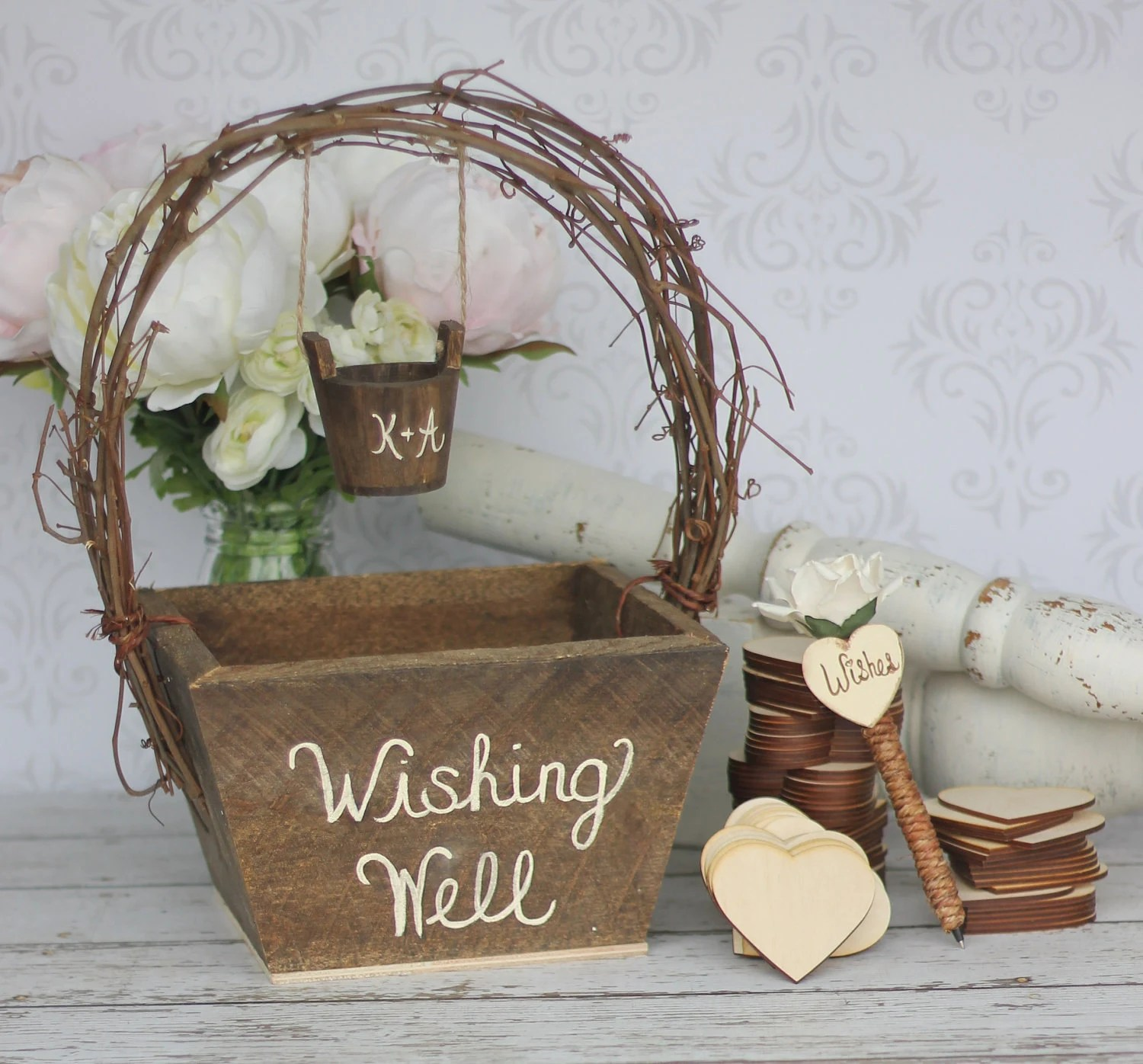 Items Similar To Wedding Guest Book Rustic Personalized Wishing Well By Steven And Rae Designs
