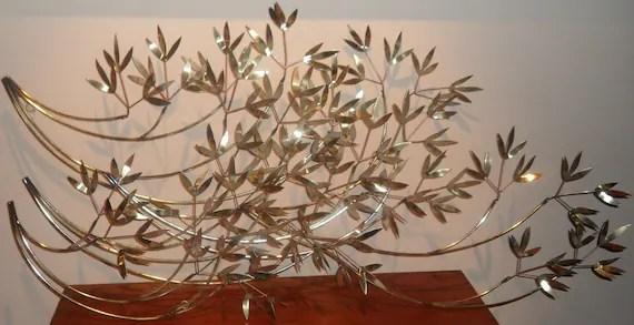 Vintage Huge Metal Wall Art Leaf Branch Sculpture SALE