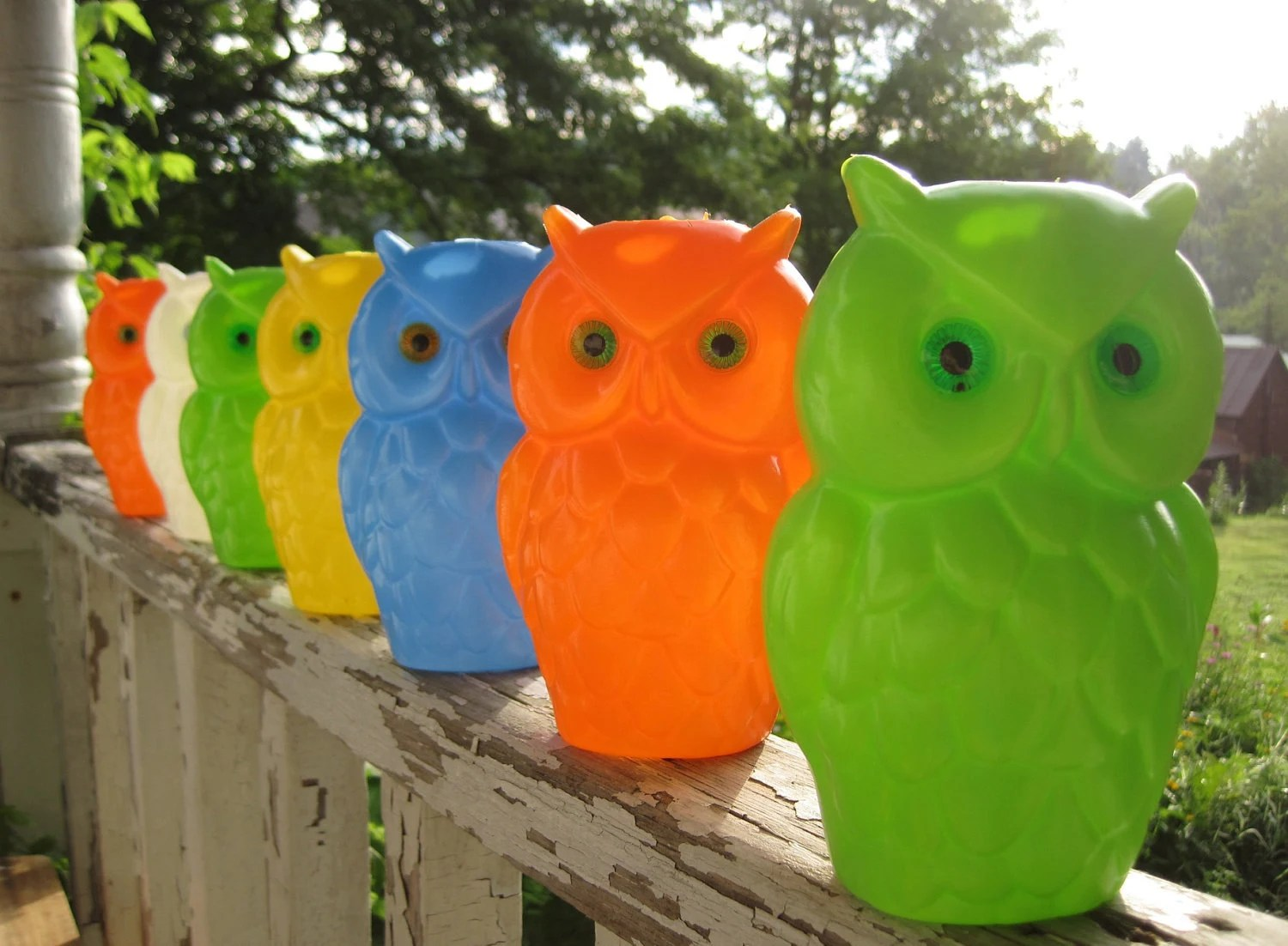 Reserved Vintage 1960s Wise Old Owl Colorful Hanging Party