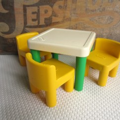 Little Tikes Chairs Tiny Table And Vintage Green Yellow