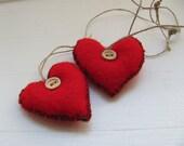 Red Lev -------- Felt. Heart------Holiday gift - AnnaLela