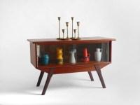 Items similar to Vintage Wood Display Cabinet - Mid ...