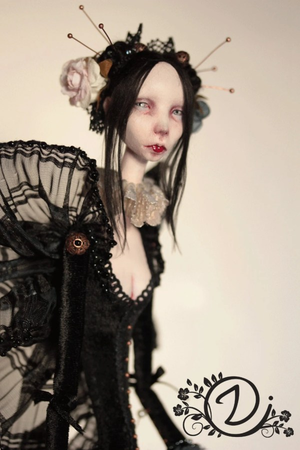 Butterfly Doll Art Gothic Night