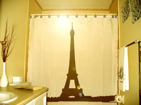 Eiffel Tower Shower Curtain Paris France Bathroom Decor Kids Bath La Tour Gustave Eiffel Champ
