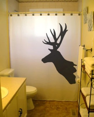 Deer Shower Curtain Buck Reindeer Antlers Moose Magestic