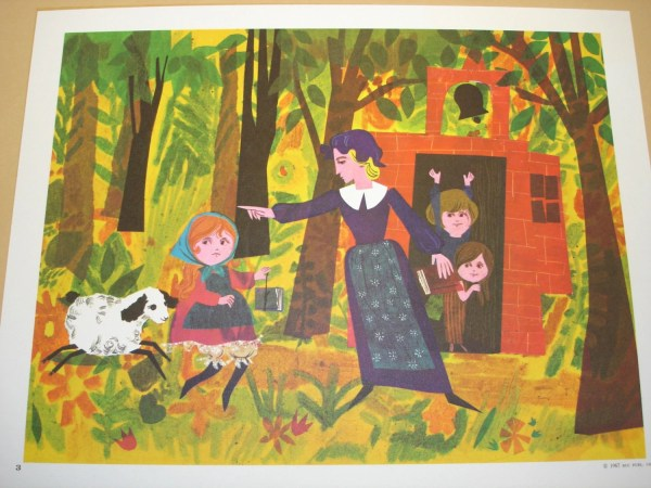 Vintage Educational Classroom Poster 1967 Mary
