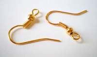 Gold earring hooks 18mm 30 pr french style earring ...