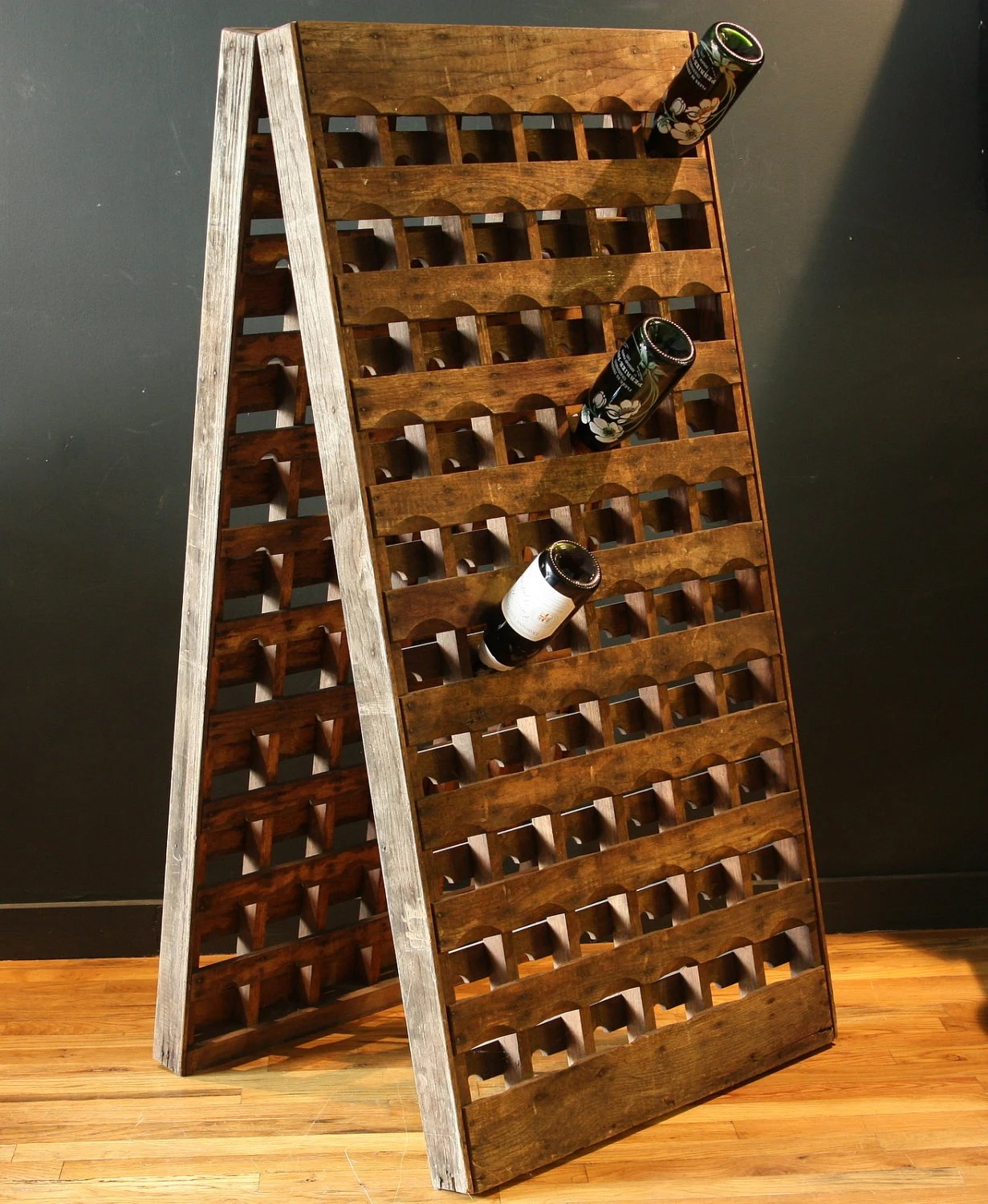 French Riddling Wine Rack 120 bottles Double Panel by sevenbc