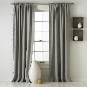 Pair Of Curtain Drapery Panels 100 Linen Lined With Black