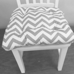 Gray Chevron Chair Slipcover For Glider Rocking Tufted Pad Seat Cushion Zig Zag Ash And