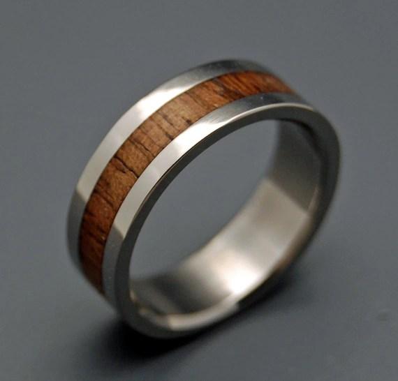 Wooden Wedding Rings Wood Rings Titanium Wedding Rings